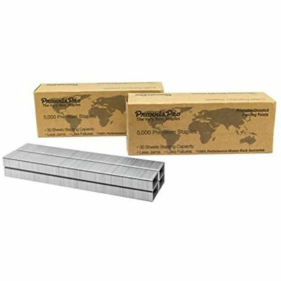 Praxxis Pro 26/6 Standard Staples Chisel Point Silver, 10,000 Count