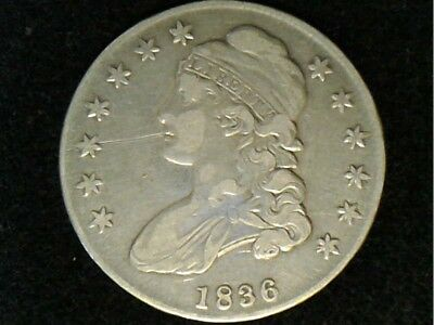 1836 Lettered Edge Bust Half Dollar - I Have Not Determined Variety, Cleaned