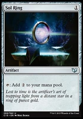 1x SOL RING - Rare - Commander - MTG - NM - Magic the Gathering