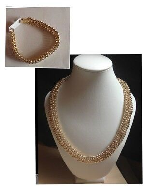 collier or maille americaine