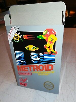 Metroid Box Only, NES Nintendo Replacement Art Case/Box !!! Complete your game!