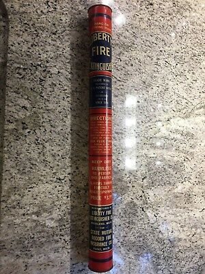 Vintage Liberty Tin Fire Extinguisher Full