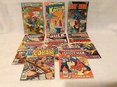 Bronze Age 40 cent comic books  7 Marvel and 4 DC issues lot of 11