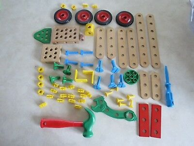 Lot of Brio Mec Hammer Wrench Wheels Book / Instructions RARE RETIRED!