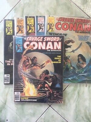 The SAVAGE SWORD of CONAN - THE BARBARIAN - Lot Of 6 - # 15, 16, 17, 18, 19 & 25