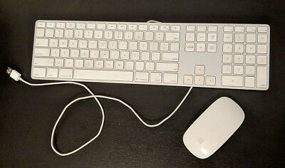 Apple Wired Keyboard w/ Numeric Keypad & Bluetooth Magic Mouse