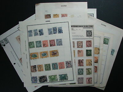 Imperial & Republic China Stamp lot 2, Coiling dragon etc,Varieties & Cancels