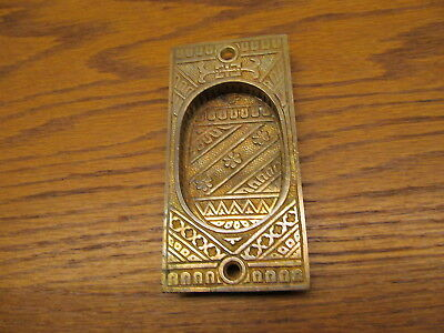 "Old Brass Bronze ?  "" F.c.linde "" ? Pocket Door Plates..pulls...escutcheon"