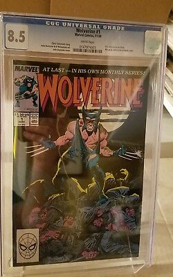 Wolverine #1 CGC 8.5 1st as Patch oOngoing series Marvel Buscema
