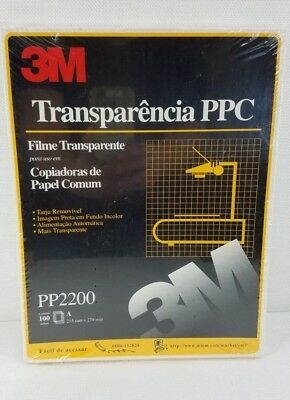 "3M Transparency Film For Copiers 100 Sheets 8.5"" x 11"" PP2200 Sealed Package New"