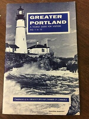 July 1-15th, 1964 Greater Portland, Maine Tourist Guide Booklet/Brochure
