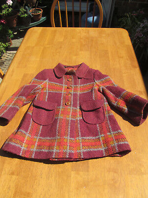 Used vintage 1960s child's winter coat - excellent condition