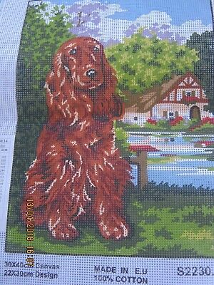 Lovely Tan Spaniel? Dog Trees House Tapestry Canvas New 30 X 40Ms