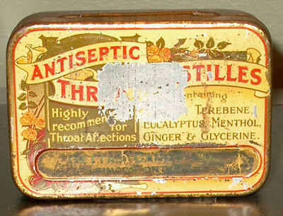 Very Rare Old Antique Candy Tin Made In England Sold In Simcoe Ont. Early 1900's