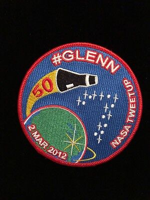 John H. Glenn Jr / Friendship 7 50Th Anniversary ( 2012 )  Nasa Tweetup Patch