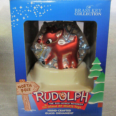 Rudolph and the Island of Misfit Toys ~ YOUNG RUDOLPH ~ Snowflake Glass Ornament