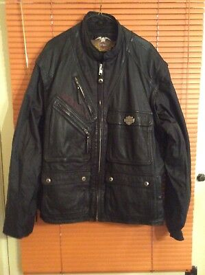 XXL Harley Davidson Leather Cargo Vest/Jacket With Removeable Sleeves