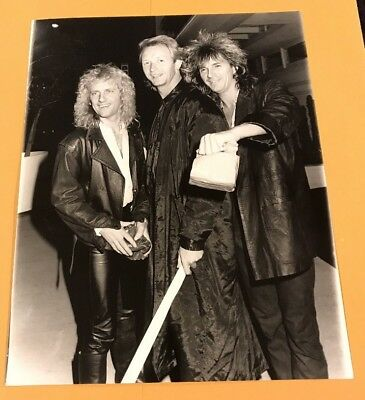 Judas Priest. Original vintage 1986 Photo Of KK, ROB, Glen.