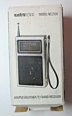 Vintage Electro Brand 2128 Portable Radio Receiver AM FM Weather Band