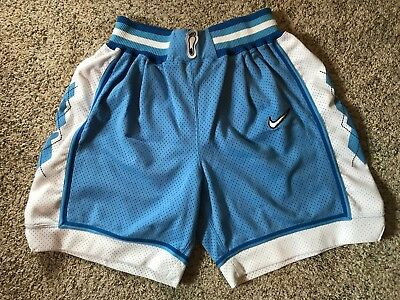 774fedb0a58 Nike UNC North Carolina Tar Heel Basketball Shorts Authentic M 32 Game Cut  Size