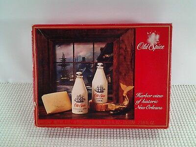 "Vintage/Authentic ""OLD SPICE"" New Orleans Harbor Collection - SET - NOS"