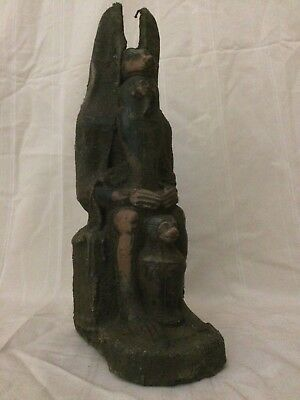 ANCIENT EGYPTIAN ANUBIS EGYPT Antique God Deity Dog STATUE Luxor STONE 3150 BC