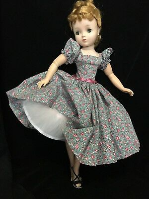 Vintage cotton day dress and slip made for Mme Alexander Cissy doll