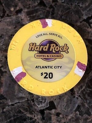 Atlantic City Hard Rock Casino $20.00 Live Chip Hard to come by