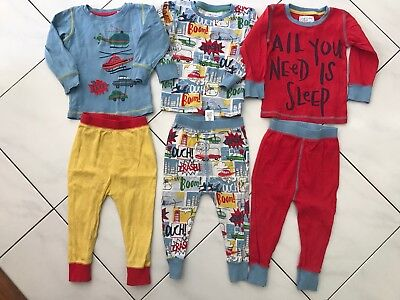 Next Baby Boy Pajamas Bulk X3 Size 12-18 Mnths Cars Planes