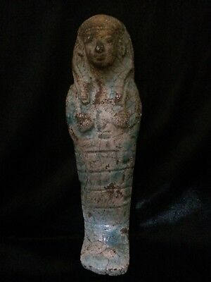 ANCIENT EGYPT Ushabti ANTIQUES EGYPTIAN Faience SHABTI STATUE Goods BCE