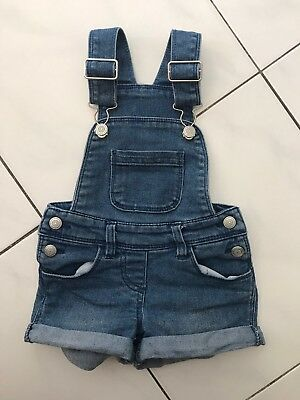 Girls Denim Overalls Size 1 Super Cute Excellent Condition Summer Shorts
