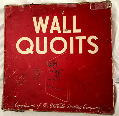 Rear Coca Cola Wall Quoits Game - 1940's - Milton Bradley -Vintage Condition
