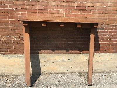 Antique Fireplace surround & mantel Arts and Crafts style Oak -