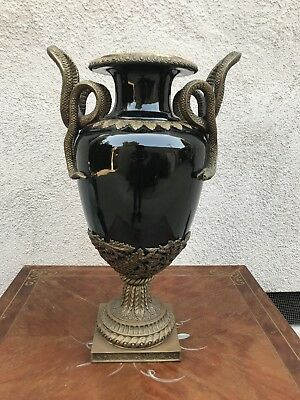 Neoclassical French Empire Vase With Snake Handles