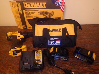 "Dewalt DCD780C2 20v MAX Lithium Ion 1/2"" Compact Drill Driver Kit NEW"