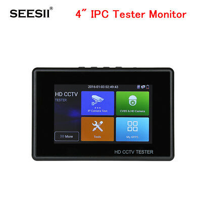 4 Inch IPC Tester Monitor TVI CVI AHD 4K Security Camera HD IP CVBS Touch Screen