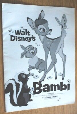 1975 Walt Disney's Bambi - Advance Exhibitor's Campaign Book