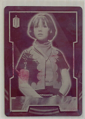 2015 Topps Doctor (Dr) Who #51 Zoe Heriot Magenta Printing Plate 1/1 ONE OF ONE