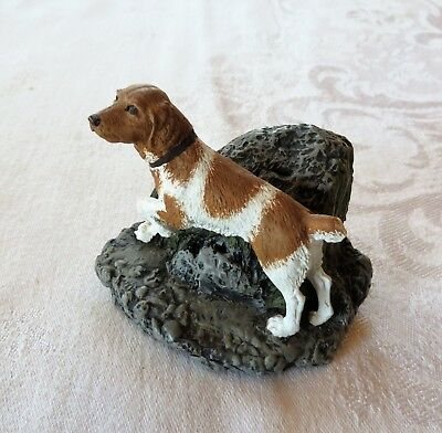 Brittany Spaniel Dog Charles Earnhardt Kennel Collection Cold Cast Bronze 1978