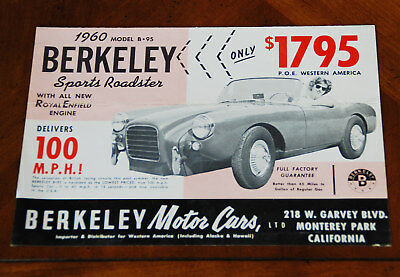 Berkeley B-95 US brochure Prospekt, 1960