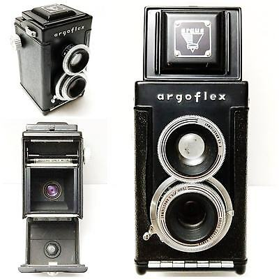 Vintage Black Argus Argoflex Twin Lens Reflex Camera, Parts Only