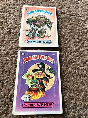 topps garbage pail kids lot of 21 cards ranging from 1985-1987 gpk