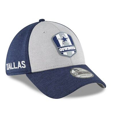 Dallas Cowboys New Era 2018 NFL Sideline Road Official 39THIRTY Flex Hat