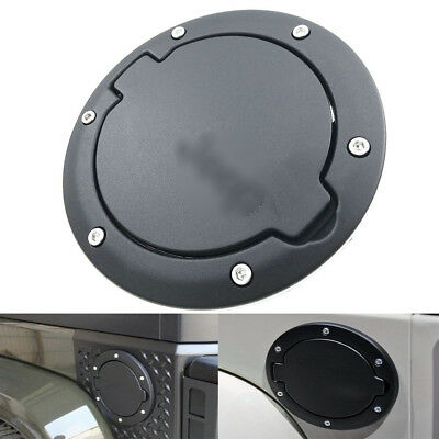 1pc Black Car Fuel Filler Door Cover Gas Tank Cap For Jeep Wrangler JK Unlimited