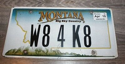 "Montana  License Plate  ""W8 4 K8 "" Wait For Kate"
