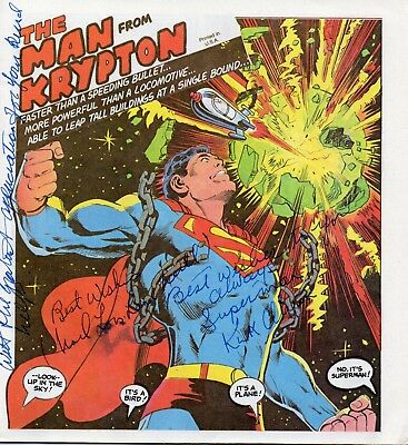 Superman - Man From Krypton - MULTI-SIGNED COMIC - BRANDO, REEVE, KIDDER & MORE!