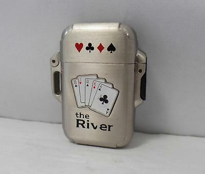 "Poker Playing Cards Butane Lighter ""The River"""