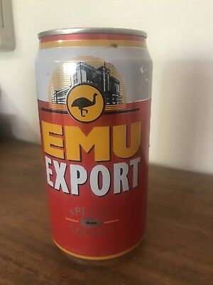 Collectable Emu Export 1995 Western Derby AFL BEER CAN 375ml Perth