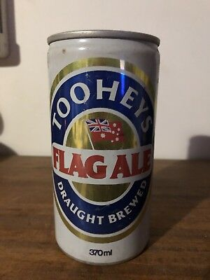 Collectable Tooheys Flag Ale Draught Brewed 370ml BEER CAN Ring Pull NSW