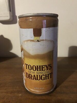 Collectable Tooheys New Special Draught Brew 370ml  Steel BEER CAN Ring Pull NSW